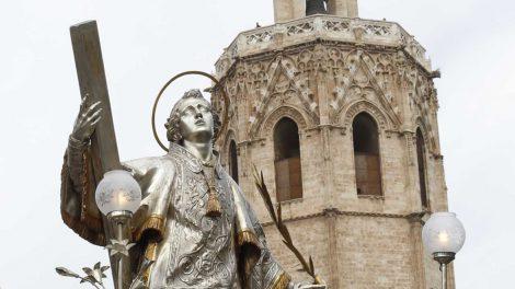 Imagen de san Vicente Mártir en Valencia
