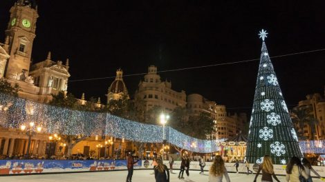 Iluminación y pista de hielo para la Navidad 2019 de Valencia/Img. Ayto.