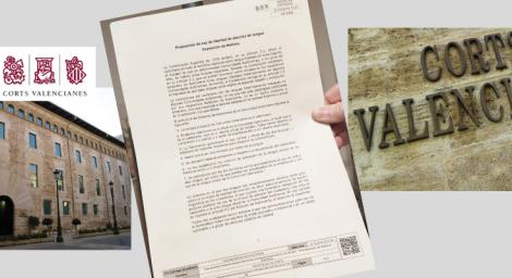 Hablamos Español ha presentado en el Registro de las Cortes Valencianas una Proposición de Ley de Libertad de Elección de Lengua para su tramitación como Iniciativa Legislativa Popular.