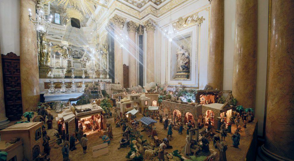 Belén de la Basílica de la Virgen /Img. J.Peiró