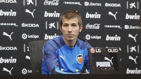 Albert Celades durante la rueda de prensa previa al valencia-Real Madrid/VCF