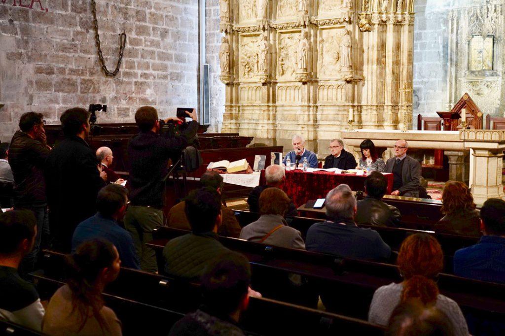 Presentación del estudio y catálogo de  de la colección de  incunables en la Capilla del Santo Cáliz./Img A.Sáiz