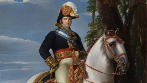 Fernando VII, pintura de Madrazo, El Prado. Según la Real Academia Española de la Lengua (RAE), el término «felonía» es sinónimo de «deslealtad, traición, acción fea»