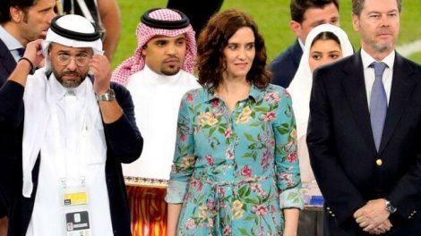 Isabel Díaz Ayuso el domingo en Yeda, Arabia Saudí/Rtve