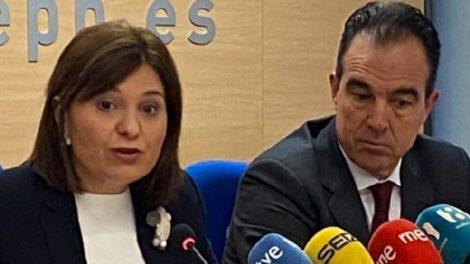 Isabel Bonig ayer en Alicante/Img. PPCV