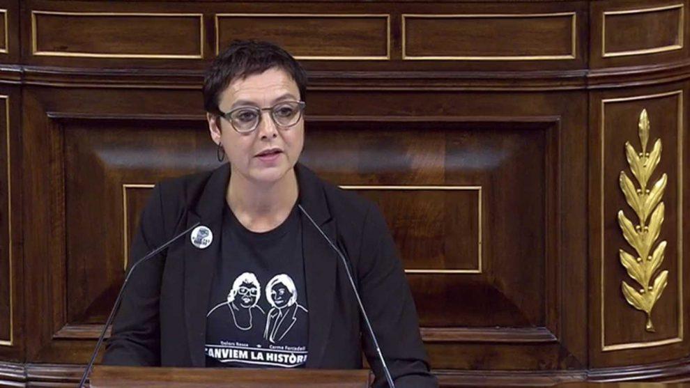 A la diputada de ERC, Montserrat Bassa le importa un comino la gobernabilidad de su país, España./Img rtve