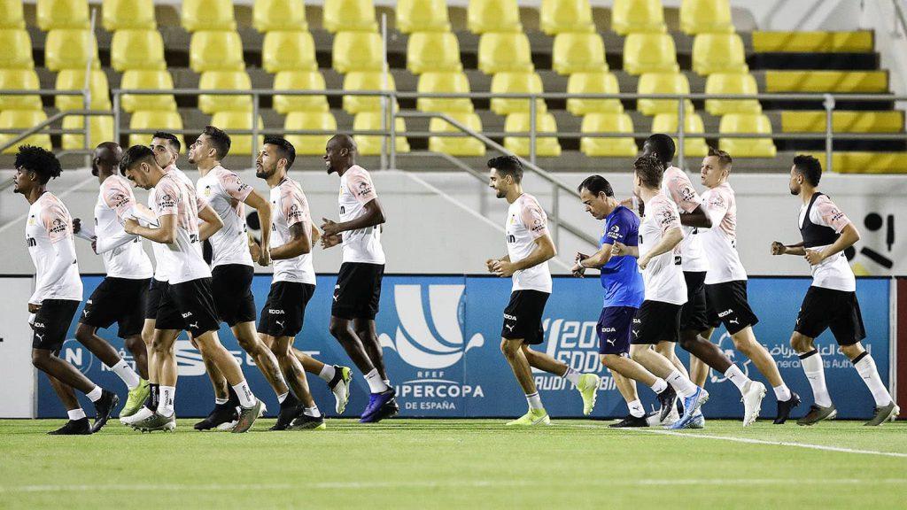 Entrenamiento del Valencia en Yeda/VCF