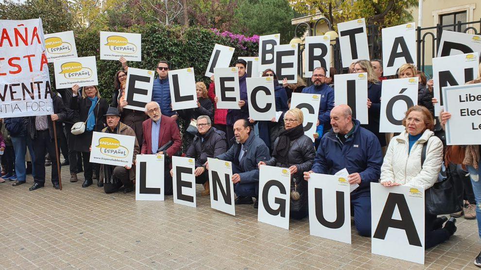 Concentración en Valencia contra la Ley de Plurilingüismo/Img. informaValencia.com