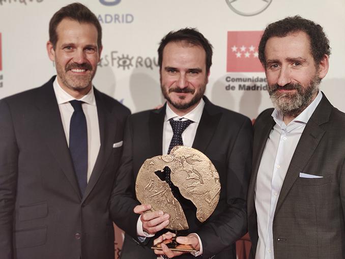 Jon Garaño, Aitor Arregi y José Mari Goenaga, directores de La trinchera infinita./Img Rtve