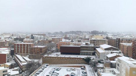 La nieve cubre la ciudad de Ontinyent/Img. informaValencia.com