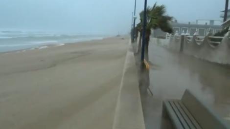 Imagen de la playa de Miramar (Valencia) azotada por el temporal - AEMET
