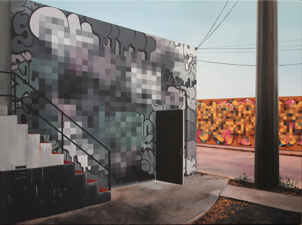 Jessica Hess - Miami Pixels III. AMERICANA, Plastic Murs