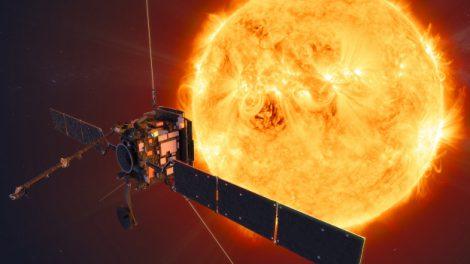 Impresión artística de Solar Orbiter. Crédito: ESA / ATG medialab