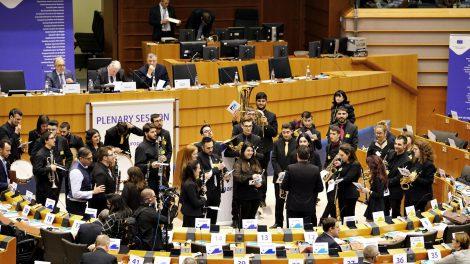Actuación de la Joven Banda Sinfónica en e Parlamento Europeo/Im. FSMCV